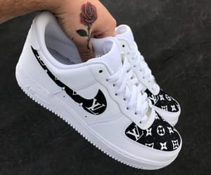 shoes, nike, and Louis Vuitton image