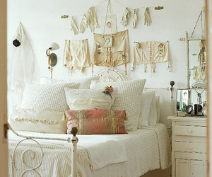 white, bedroom, and vintage image