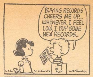 record, peanuts, and music image
