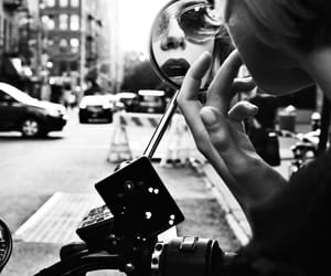 black and white, city, and mirror image