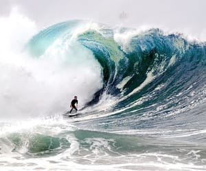 surf, surfer, and surfing image