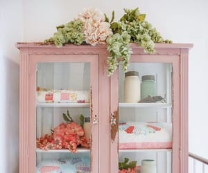 cabinet, interior, and pink theme image