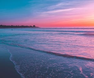 beach, ocean, and landscape image