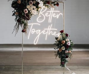 bouquet, celebration, and neon image