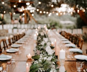 wedding, candles, and lights image