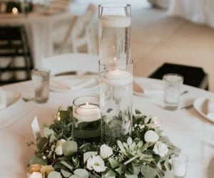 candles, celebration, and flowers image