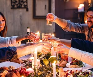candles, family dinner, and dinner image