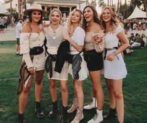coachella, fashion, and friendship image