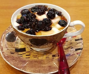 blueberry, cafe, and food image