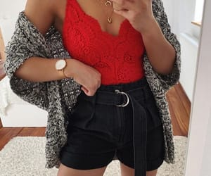 bodysuit, outfit, and style image