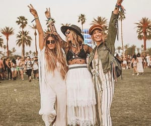 best friends, coachella, and look image