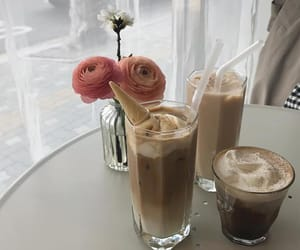 beige, cafe, and coffee image