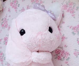 bed, bunny, and plushie image