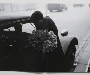 flowers, man, and car image