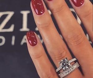 nails, ring, and fashion image