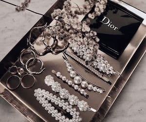dior, pearls, and jewelry image