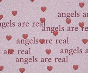 angel, pink, and hearts image