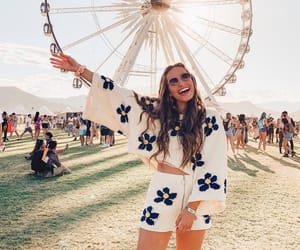 coachella, girls, and festival season image