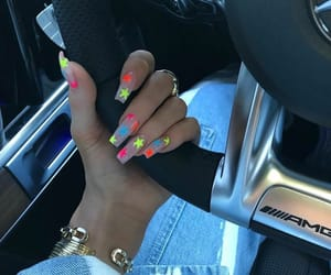acrylics, colorful, and nails image