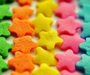 stars, colorful, and rainbow image