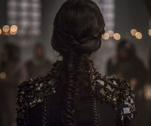 braid, clothing, and dark image