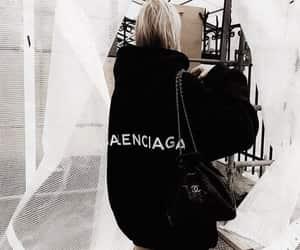 fashion, Balenciaga, and black image
