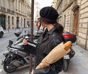 fashion, girl, and bread image