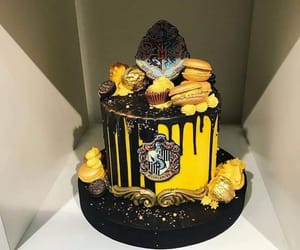 cake, harry potter, and hufflepuff image