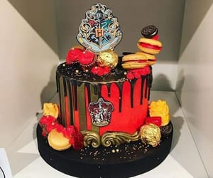 cake, gryffindor, and harry potter image