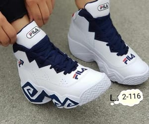 champion, Fila, and shoes image