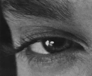 black and white, eminem, and eye image