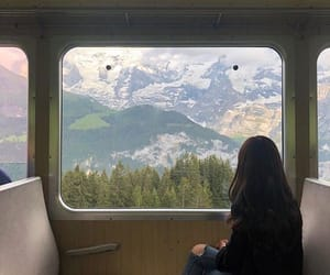travel, mountains, and train image