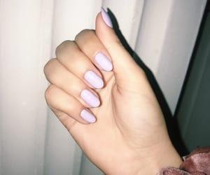 long nails, purple nails, and spring nails image