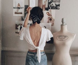 beauty, hair, and jean image