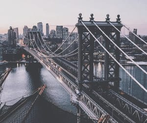 city, travel, and bridge image