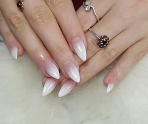 nails, babypink, and newlook image