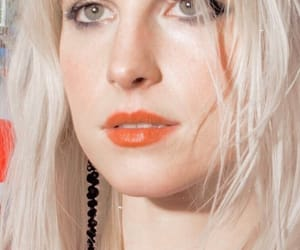 blonde hair, hayley williams, and make up image