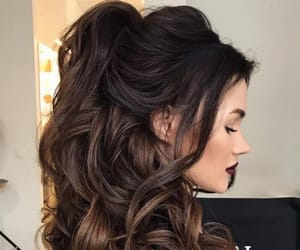 curly hair, updo, and wedding hair image