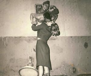 black and white, couple, and old image