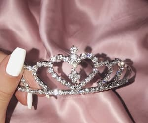 crown, pink, and nails image