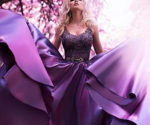 dress, purple, and style image