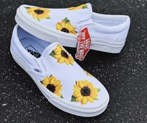 sunflower, shoes, and vans image