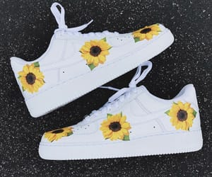 air force 1, nike, and sunflower image