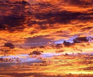 landscape, sky, and atardecer image