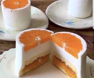 orange, cake, and bakery image