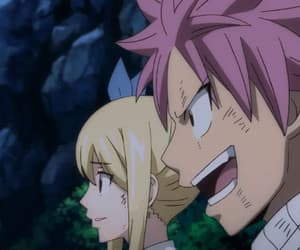anime, lucy heartfilia, and natsu dragneel image