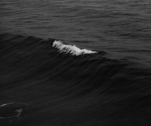 black, sea, and wallpaper image