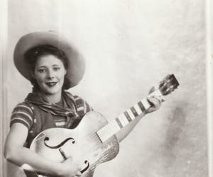 black and white, Cowgirl, and vintage image