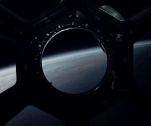 Darkness, space, and stratosphere image