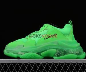 Balenciaga, neon green, and balenciaga shoes image